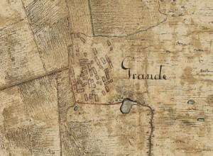 Utsnitt av landsbyen på Grande 1796